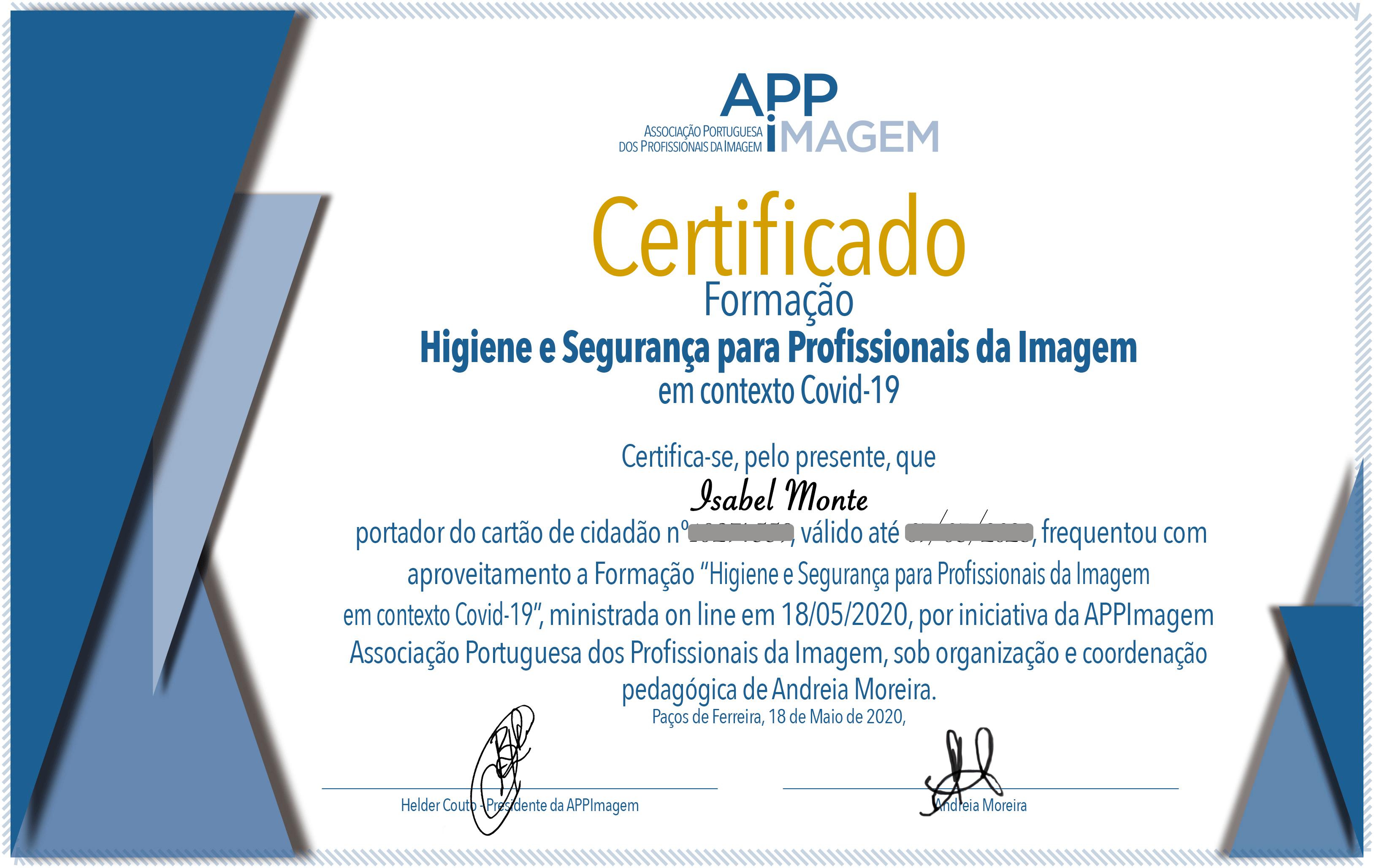 Certificado Higienização APPImagem_website
